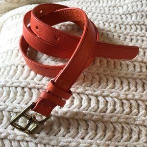 J. Crew leather orange belt Sz. Small